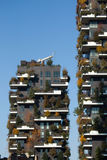 Bosco Verticale Towers in the Porta Nuova district in Milan, Ita Royalty Free Stock Photo