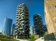 Bosco Verticale (Vertical Forest) Architectural detail royalty free stock image
