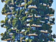 Bosco Verticale Vertical Forest Designed door Stefano Boeri, duurzame architectuur in het district van Porta Nuova, in Milaan Stock Fotografie