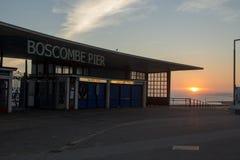 Boscombe molo, Bournemouth fotografia royalty free