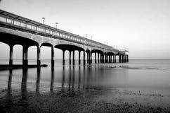 Boscombe Pier mono Stock Images