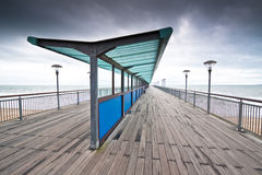 Boscombe Pier on a stormy day Stock Photography