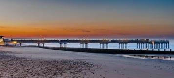 Boscombe Pier sunrise Stock Image
