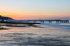Boscombe Pier sunrise Royalty Free Stock Photography