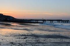 Boscombe Pier sunrise Royalty Free Stock Photo