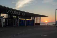Boscombe pir, Bournemouth royaltyfri fotografi