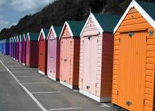 Boscombe-Strand-Hütten Stockbild