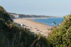Boscombe strand och pir Arkivfoton