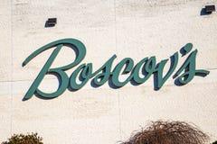 Boscovs tecken på yttre detaljist Arkivfoto