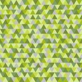 Bosdriehoeks vectorpatroon, groene grijze geometrische aardachtergrond Royalty-vrije Stock Afbeelding