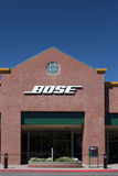Bose Store Exterior. GILROY, CA/USA - MAY 26, 2014: Bose store exterior. Bose is an American corporation specializing in audio equipment, loudspeakers, noise royalty free stock image