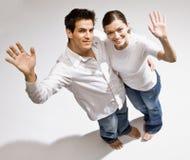bosej pary szczęśliwy falowanie zdjęcie stock