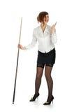 Boshafter Brunette Lizenzfreies Stockfoto