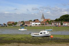 Bosham à marée basse sussex l'angleterre Images stock
