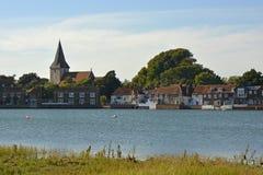 Bosham ad alta marea, Sussex, Inghilterra Immagine Stock Libera da Diritti