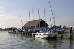 Bosham Quay at high tide. UK Royalty Free Stock Photos