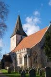 BOSHAM, SUSSEX/UK OCCIDENTAL - 1er janvier : Église de Bosham baignée dans la victoire Photos stock