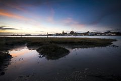 Bosham at twighlight on Sussex coast near Chichester Royalty Free Stock Image
