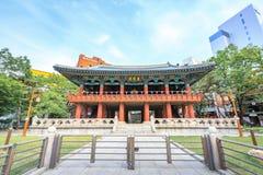 Bosingak Bell Pavillion el 19 de junio de 2017 en Seul, Corea del Sur Imagenes de archivo