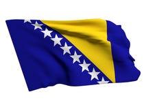 Bosinia herzegovina flag Stock Image