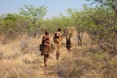 Bosjesmannen van Botswana Stock Fotografie