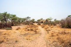 Bosjesmannendorp in Botswana Royalty-vrije Stock Afbeeldingen