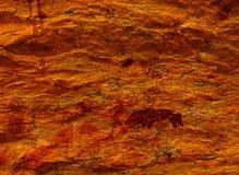 Bosjesmanschilderijen in Rostock - Namibië stock foto