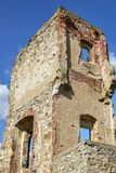 Boskovice,捷克- 2013年9月28日:13世纪哥特式城堡Boskovice hrad的废墟在南摩拉维亚,捷克语关于 图库摄影