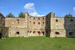 Boskovice,捷克- 2013年9月28日:13世纪哥特式城堡Boskovice hrad的废墟在南摩拉维亚,捷克Rep 库存照片