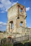 Boskovice,捷克- 2013年9月28日:13世纪哥特式城堡Boskovice hrad的废墟在南摩拉维亚,捷克Rep 库存图片