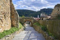 Boskovice, République Tchèque - 28 septembre 2013 : Ruine d'un hrad gothique du 13ème siècle de Boskovice de château en Moravie d Photos stock