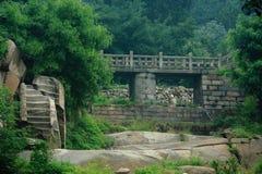 Boslandschap in park van Berg Taishan Royalty-vrije Stock Fotografie
