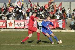 Bosnia eerste liga - Velez v Borac Stock Foto