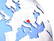 Bosnia on elegant globe Royalty Free Stock Photo