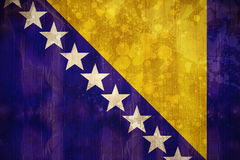 Bosnia flag in grunge effect Stock Images