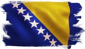 Bosnia Flag Stock Photography