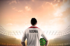 Bosnia football player holding ball Stock Photos