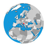Bosnia on globe Stock Images