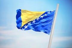 bosnia Hercegowinie flagę Zdjęcia Stock