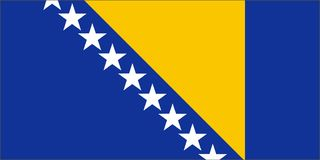 Bosnia and Herzegovina. The national flag of Bosnia and Herzegovina Royalty Free Stock Photos