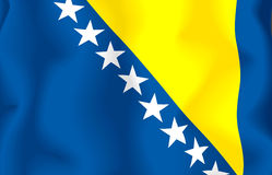 Bosnia Herzegovina Flag Stock Photo