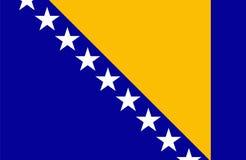 Bosnia and Herzegovina flag Stock Photography
