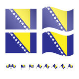 Bosnia and Herzegovina Flag Royalty Free Stock Photography