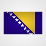 Bosnia and Herzegovina flag on a gray background. Vector illustration Royalty Free Stock Photo