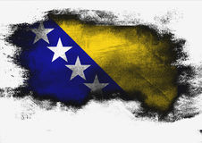 Bosnia and Herzegovina flag painted with brush Stock Photography