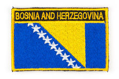 Bosnia and Herzegovina flag patch Stock Images