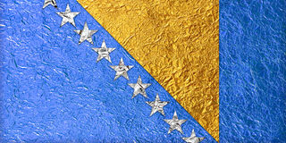 Bosnia and Herzegovina Flag Stock Image