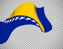 Bosnia and Herzegovina flag Royalty Free Stock Photos