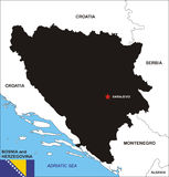 Bosnia and Herzegovina map Stock Image