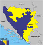 Bosnia and Herzegovina map Stock Images